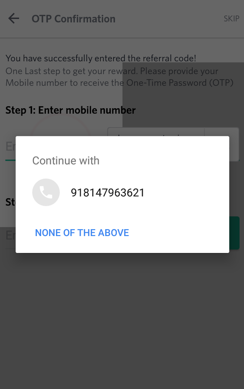 Automatic SMS verification for Android at Myntra - Arun