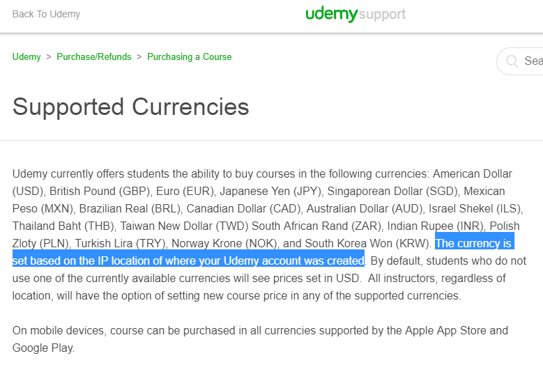 Signing up in Udemy matters  From where you sign up matters too…