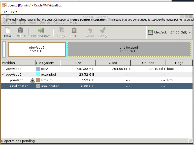 Increasing Virtual Disk Space for a Guest Machine Managed by