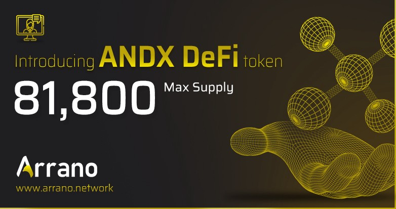 Arrano Network Introduces a new Defi token ANDX with max supply of 81,800. The token will be listed on standar defi exchanges