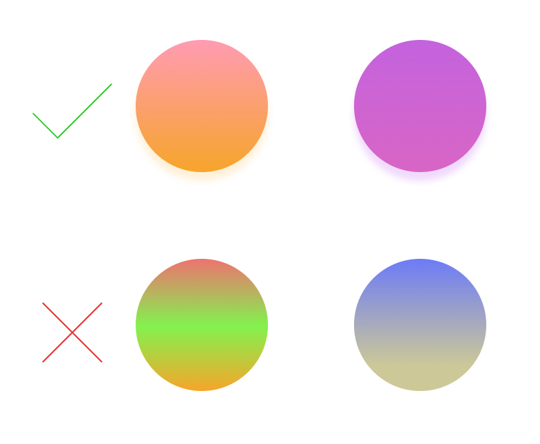 Choosing the right gradient Colors