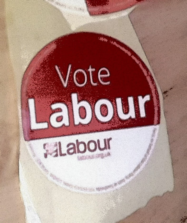A Labour Party election sticker