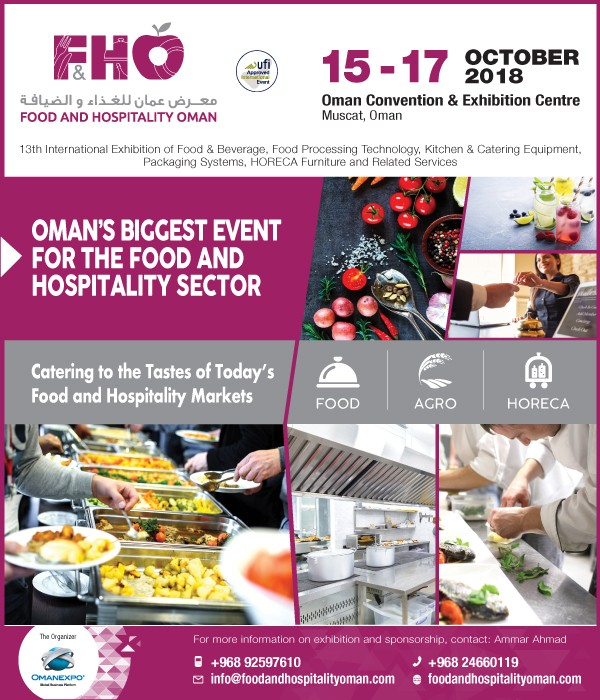 The Biggest Food & Hospitality Oman Exhibition to be held in October
