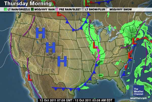 How To Read This Morning\'s Weather Map - The Awl - Medium