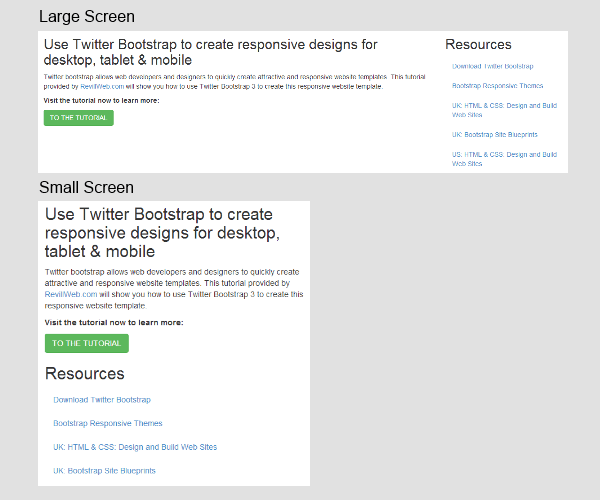 Bootstrap Tutorial A Responsive Design Tutorial With Twitter Bootstrap 3 By Leon Revill Revillweb