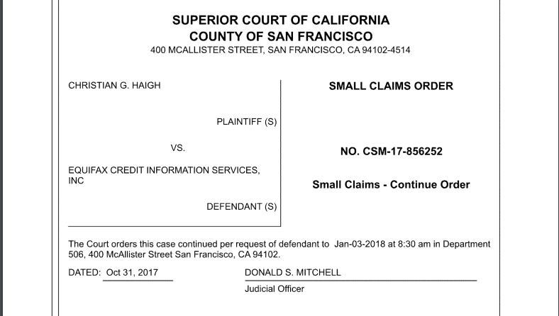 I won $8,000 from Equifax in Small Claims Court  Here's how