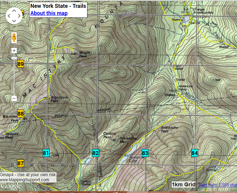 Hikers: Know your grid!!! - USNG Florida - Medium