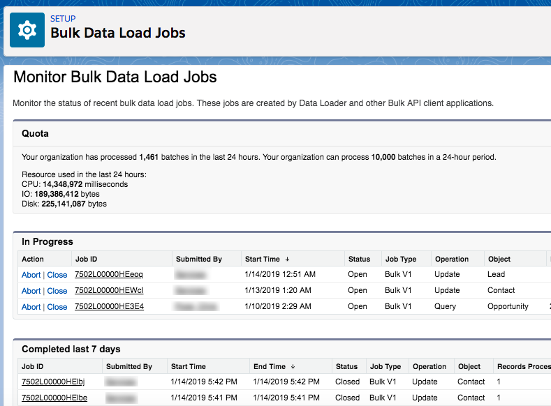 "How to ""Export"" Bulk Data Load Jobs data in Salesforce"