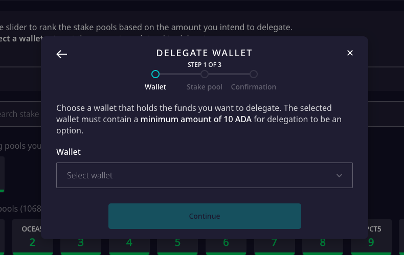 Delegate with your Daedalus wallet