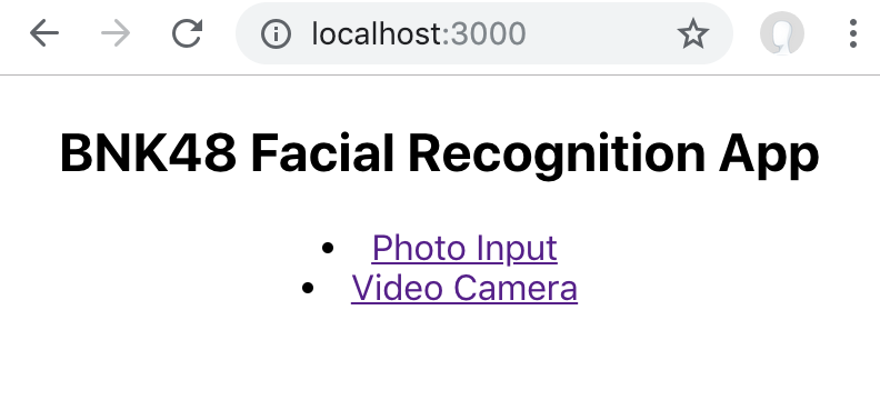 Facial Recognition SPA for BNK48 Idol group using React and