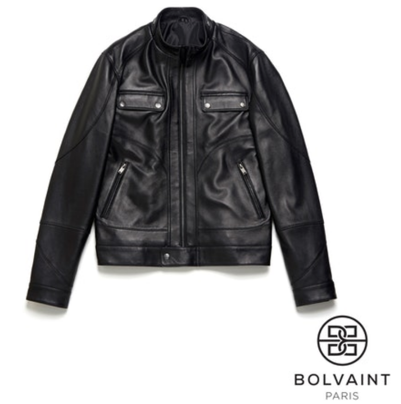 Quality genuine leather jacket for motorists
