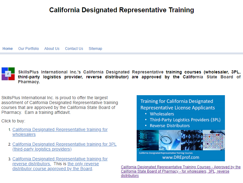 Largest selection of Board-approved California Designated Representative online training programs.