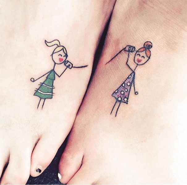 13494c91f060f sister foot tattoos which should make you feel awesome