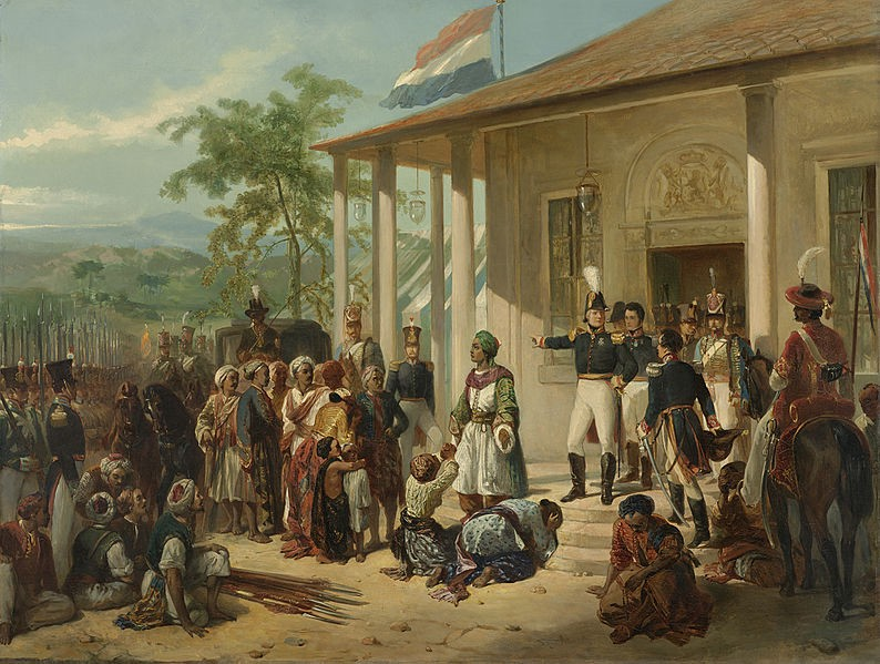 De onderwerping van Diepo Negoro, a painting from the Dutch East Indies