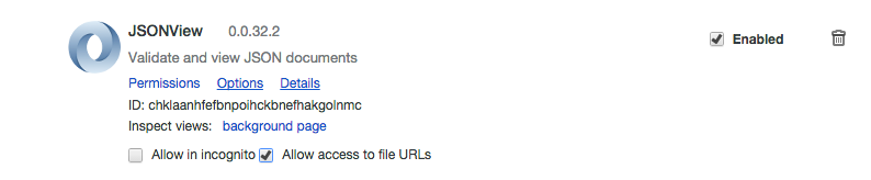 open local JSON files in Chrome from the command line
