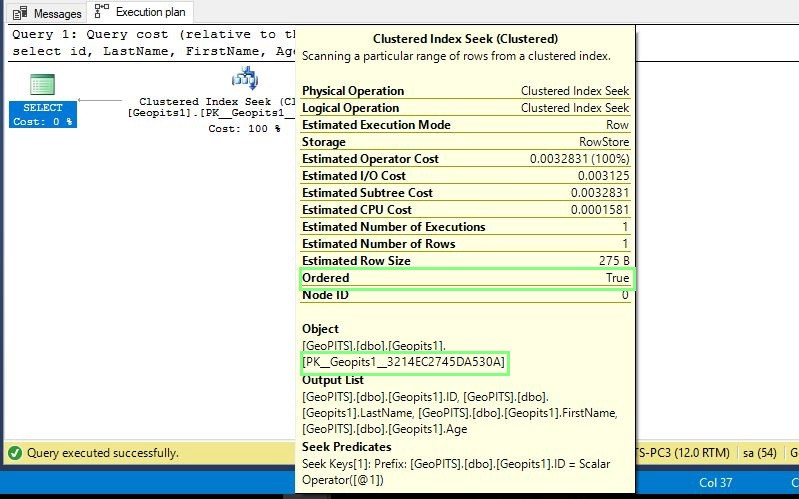 DIFFERENCES BETWEEN SQL SERVER CLUSTERED INDEX SCAN AND