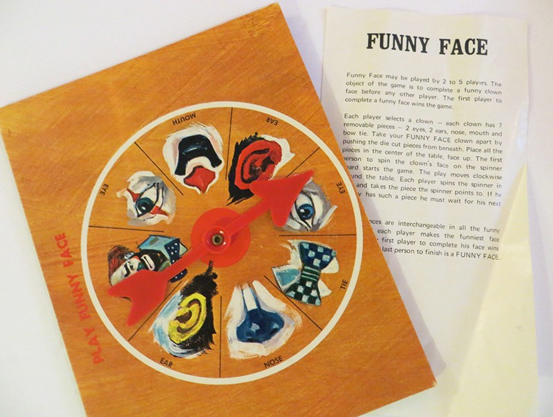 """Hello and welcome to a private showing of the Museum of Unsettling Toys & Games. Each item featured in this collection represents a questionable moment in the development of toys and games throughout history. Featured Item: The """"Funny Face"""" Board Game"""