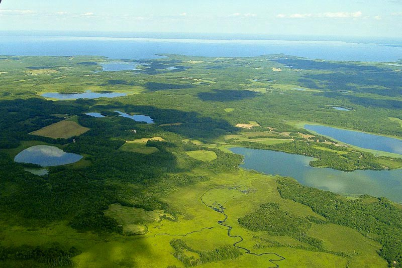 minnesota lakes from above