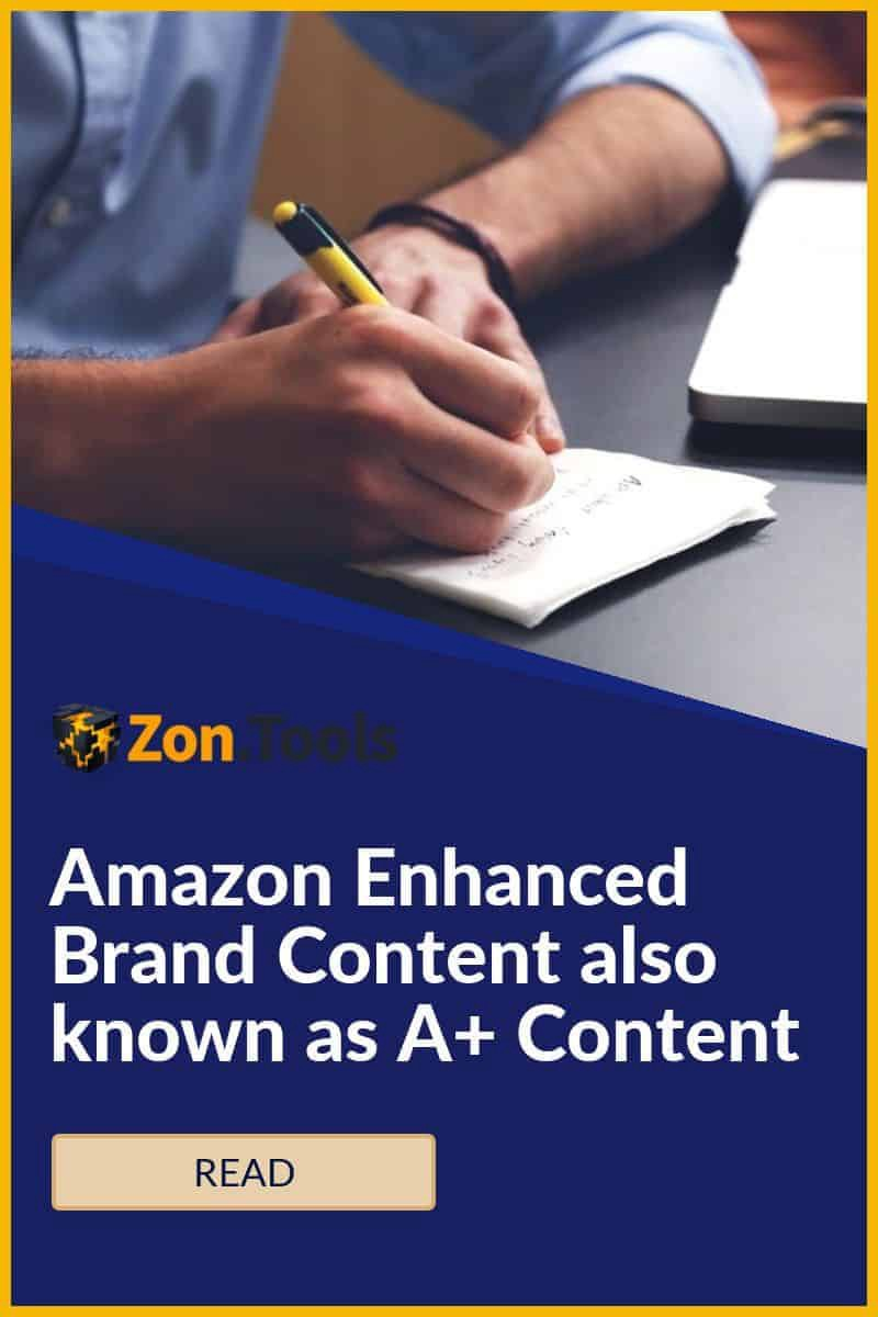 Amazon Enhanced Brand Content also known as A+ Content pinterest image