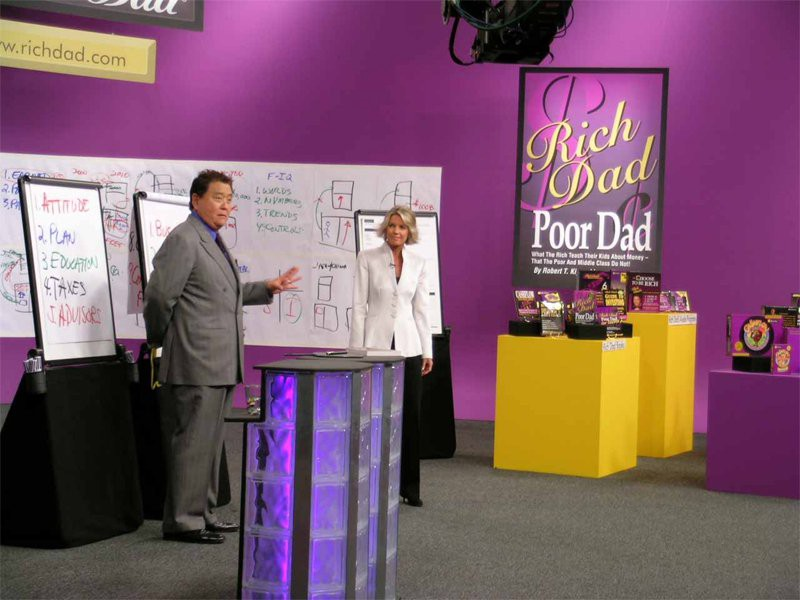 Kiyosaki is making money from a personality cult