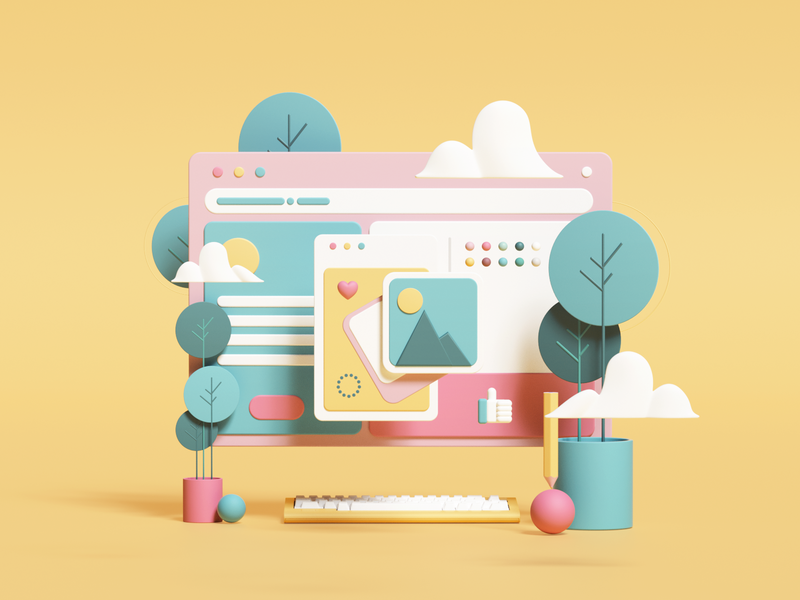 Abstract illustration of a webpage