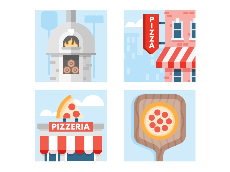 Pizza Time icons by Scott Tusk by Yelp Design