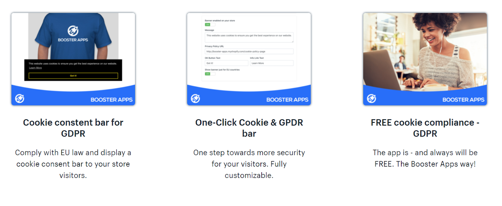 Compliant with free GDPR cookies