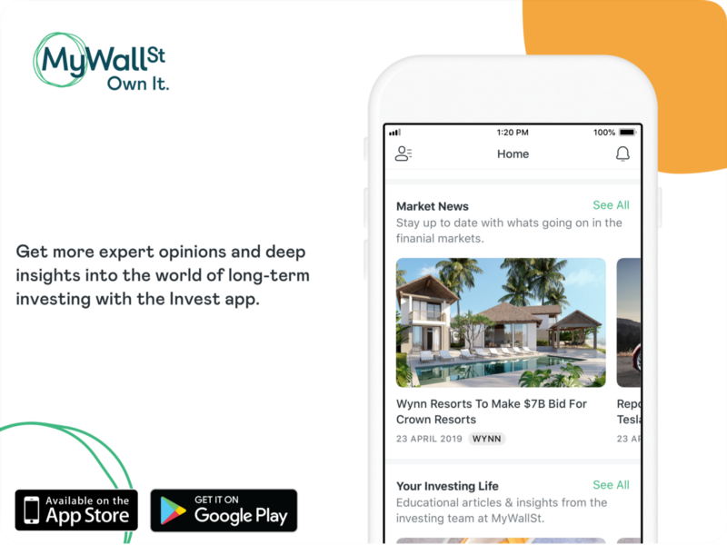 MyWallSt app for stock market news and analysis