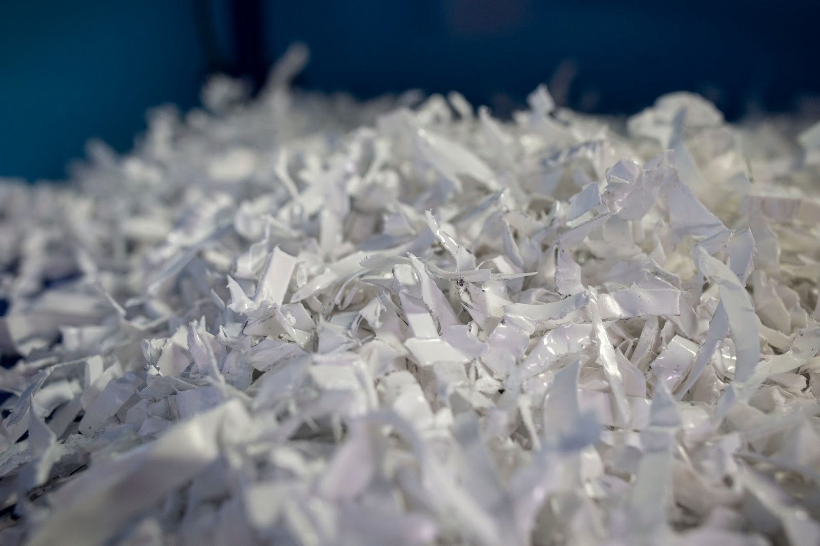 Shredded plastic produced at one of GIVO's facilities