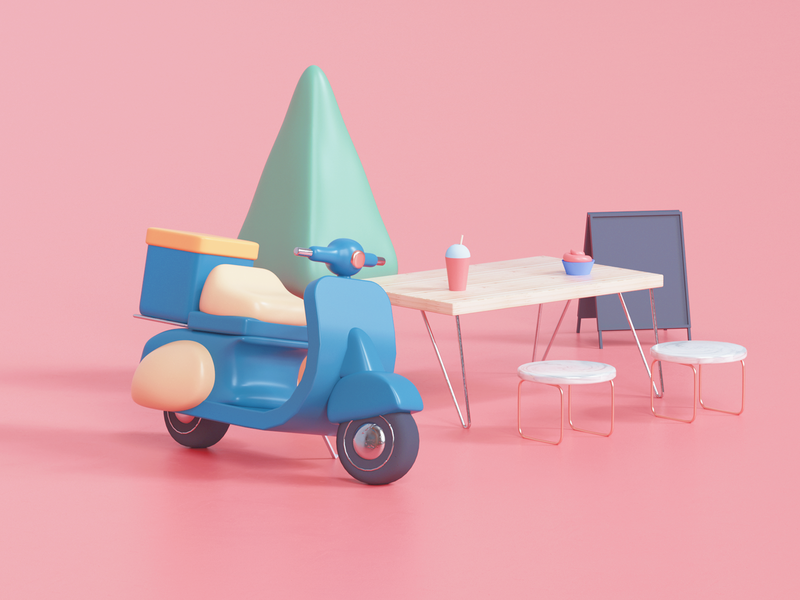 Scooter in the motel by Udhaya Chandran in Design Inspiration by Iconscout