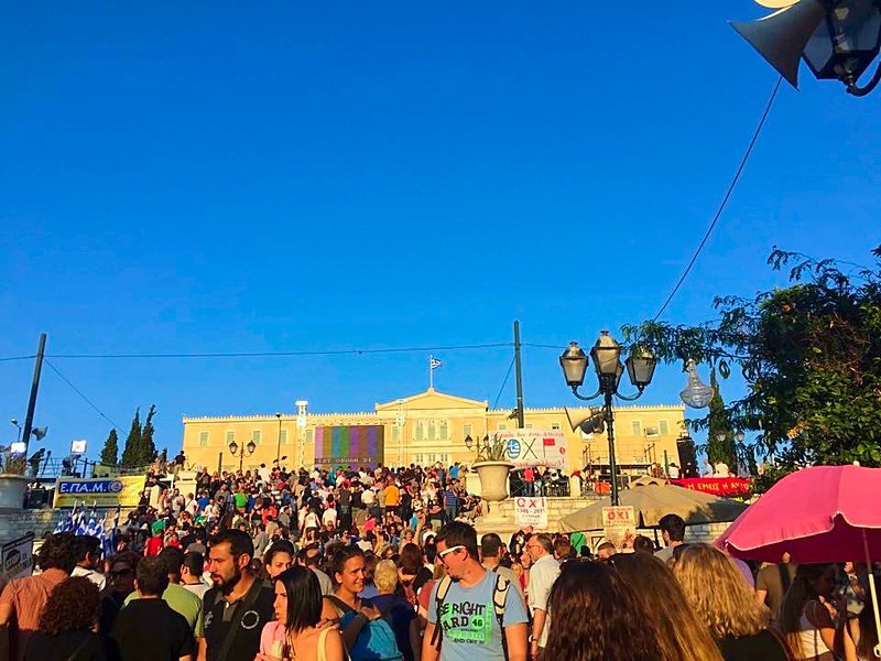 Syntagma was already packed before the official gathering.