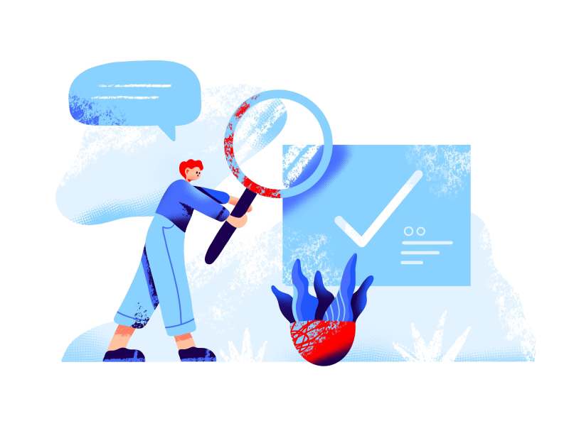 Task illustration by Berin Catic for Orizon in iconscout design inspiration blog