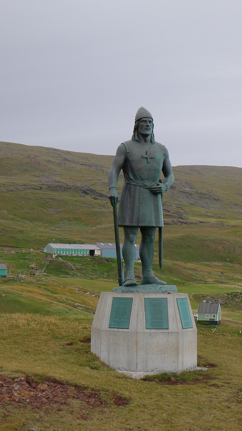 A statue of Erik the Red
