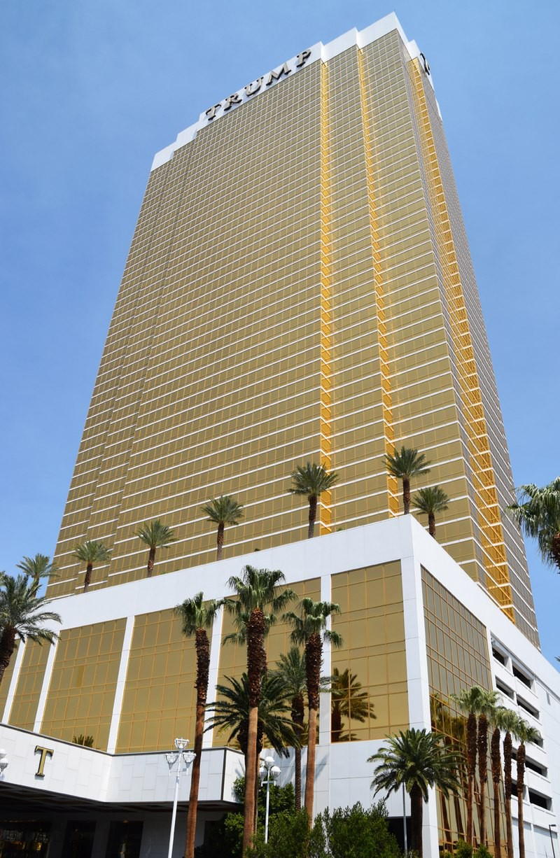 Trump Tower, in a grotesque shade of gold