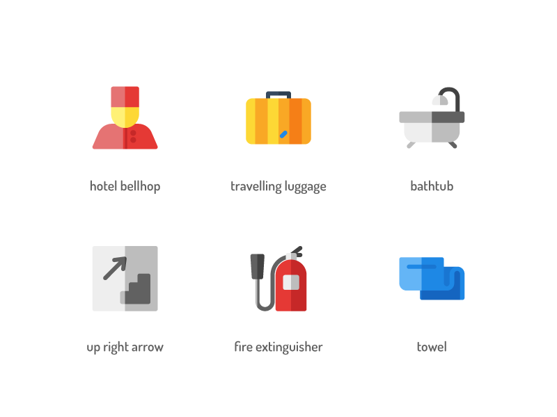 Hotel Flat Icons by Rizki Kurniawan for Inipagi Studio