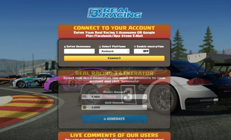 free gold real racing 3 android