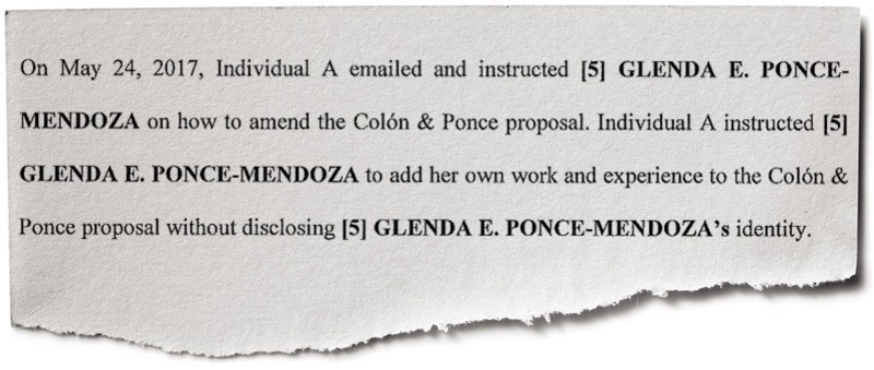 Excerpt from indictment against Julia Keleher, Puerto Rico's former education secretary