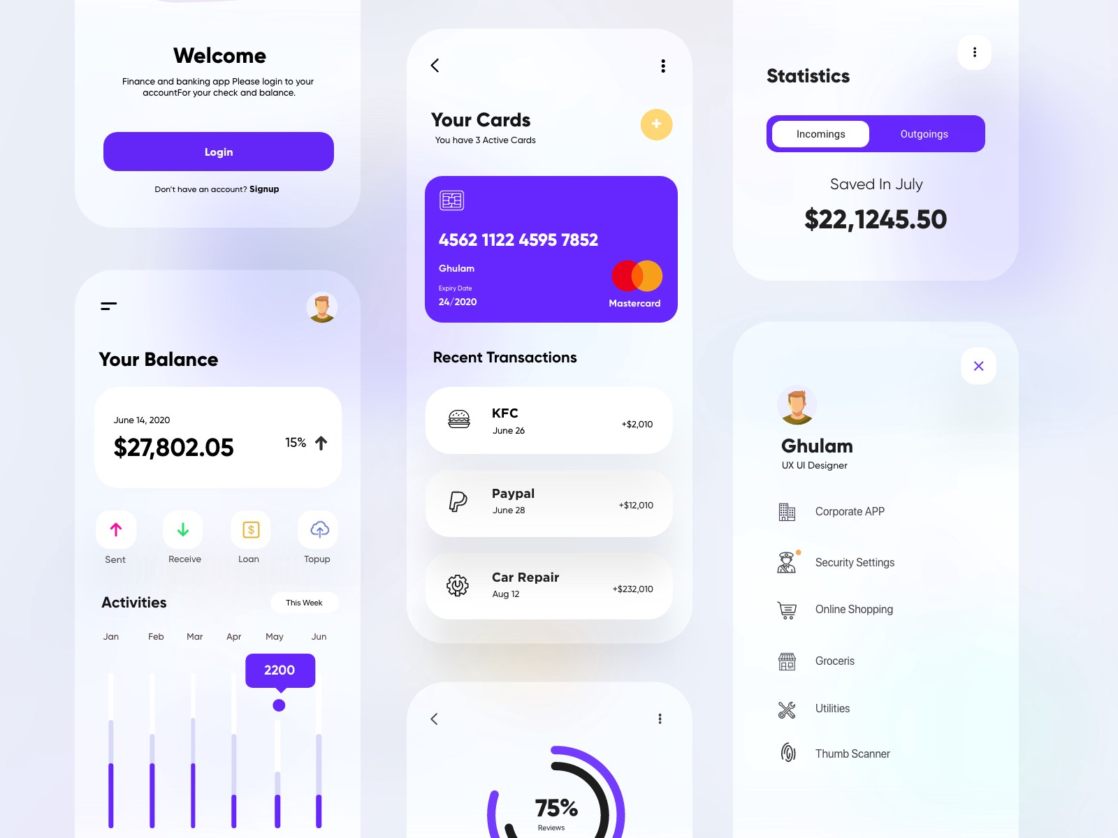 Banking and Finance App UX-UI Design