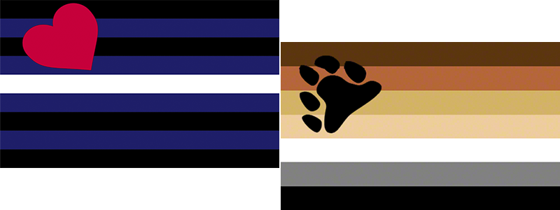 Leather and Bear Pride Flags