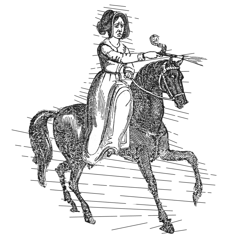 The horse thief shoots an officer, from A Demon in Female Apparel, 1842