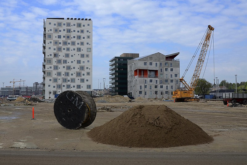 A building site near a beach