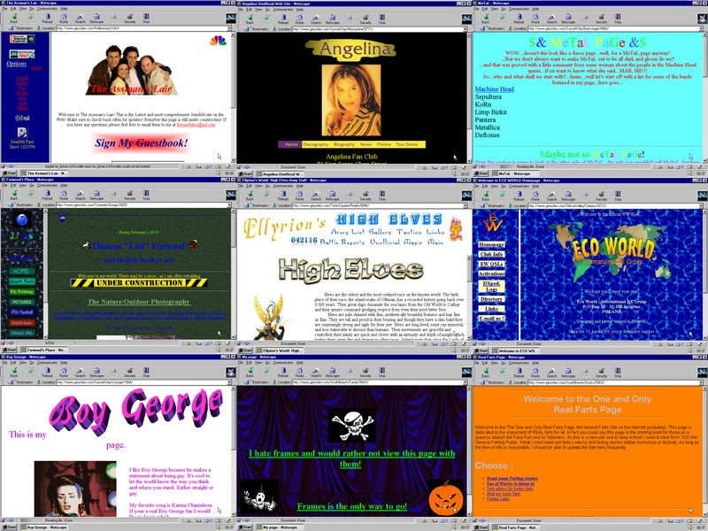 Examples of Geocities Pages