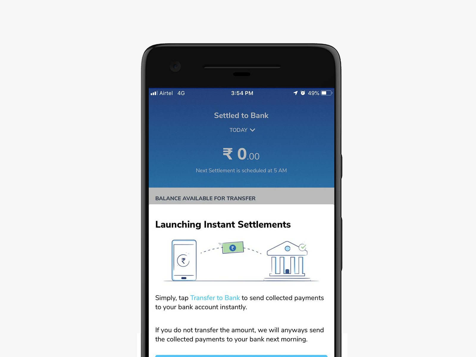 We have launched 'Instant Bank Settlements' for our Merchant