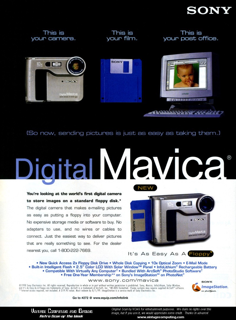 Sony's Floppy Disc Digital Camera — The Sony Mavica
