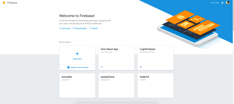 Your Firebase projects all in one place