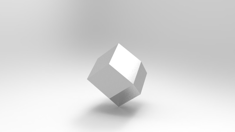 Rendering of a rhombic dodecahedron