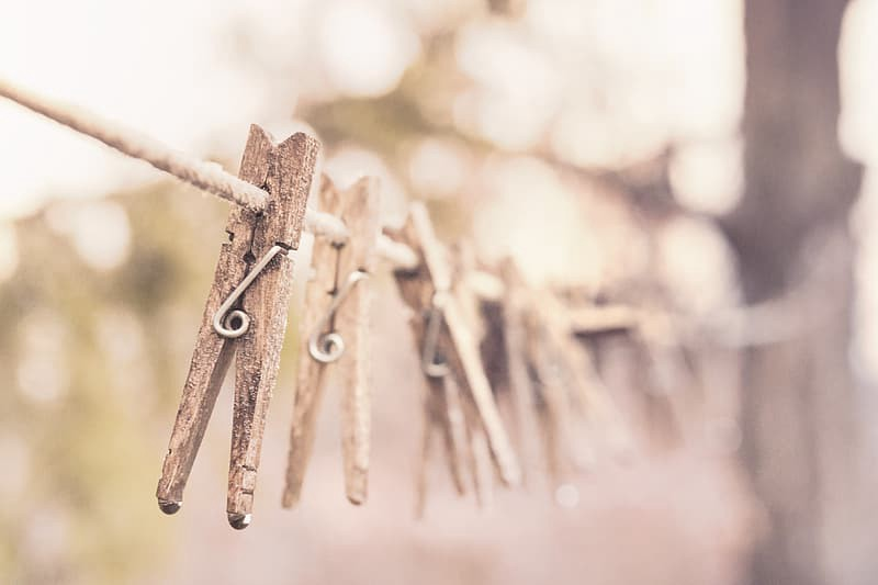 Picture of clothespins https://www.pikrepo.com/ftwcf/selective-focus-photography-of-wooden-clip