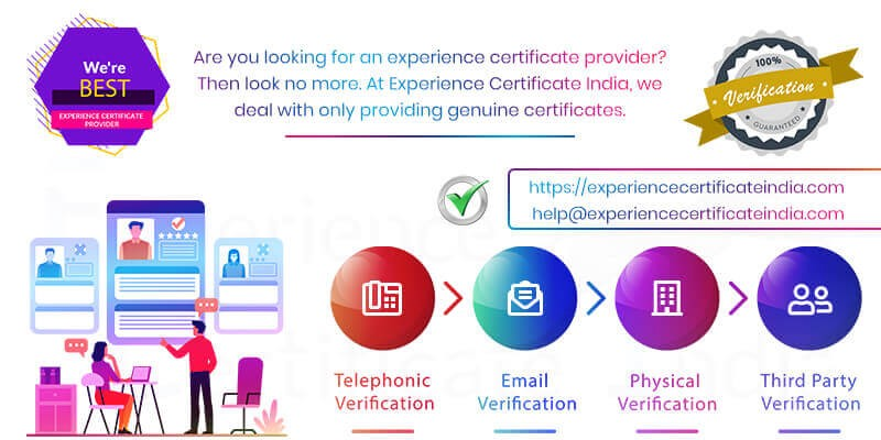 Looking Experience Certificate provider