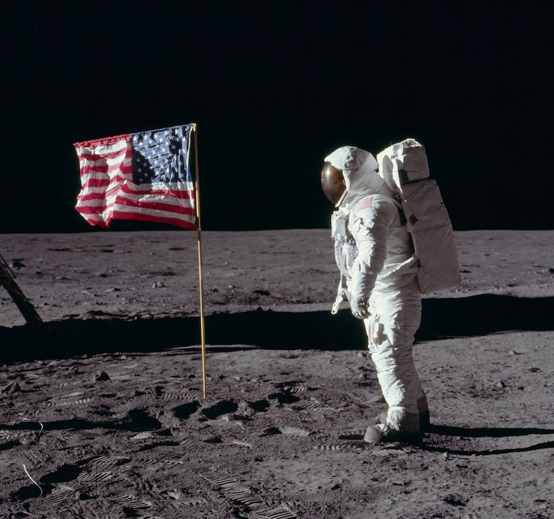 Neil Armstrong Walking On Moon