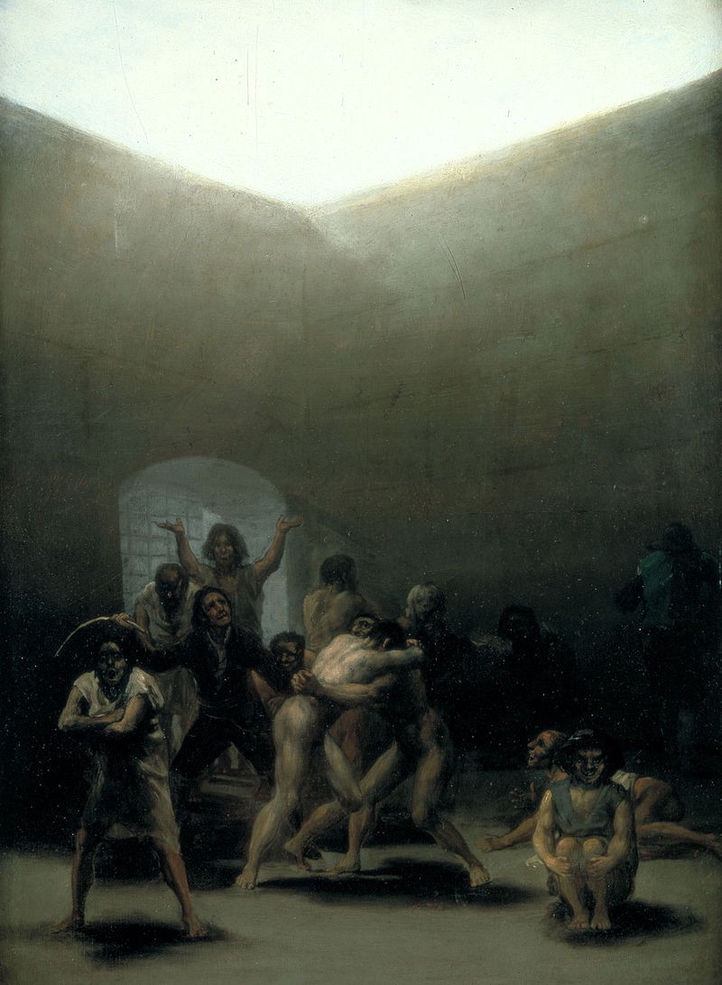 A painting of Francisco Goya's visit to what was then called a 'lunatic asylum'